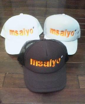 「msaiyo」キャップ
